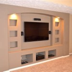 Built In Drywall Entertainment Center