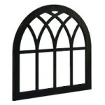 Magnolia Home Cathedral Window Frame Wall Decor Black