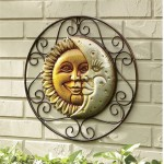 Sun And Moon Outdoor Wall Art