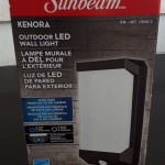 Sunbeam Kenora Outdoor Led Wall Light Costco