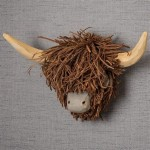 Wall Mounted Highland Cow Head