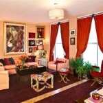 What Color Curtains Match Peach Walls